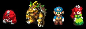 Alternate Super Mario RPG look by BlueBeacon