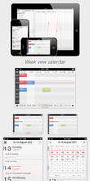 iPhone/iPad App Concept - Calendar - Week view by sicfess