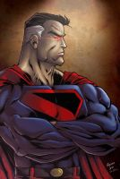 Superman colored by Kid-Destructo