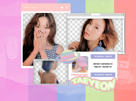 Taeyeon / PACK PNG by KoreanGallery