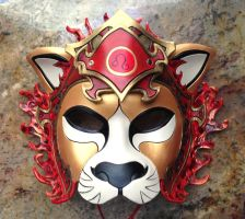 Leo Lion Zodiac Leather Mask by b3designsllc