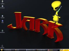 Yellow Alien Desktop by fission1