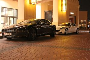 Aston Martin Rapide and Ferrari FF by ramyk