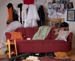 A room with an old sofa/couch by RavensLane