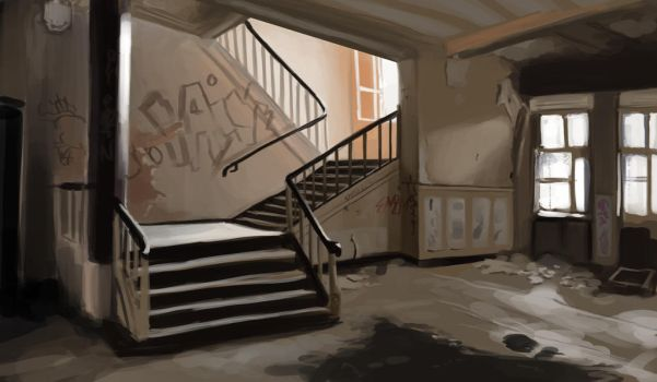 Interior Study #01 - Abandoned Place by Foxflake