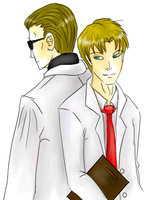 Wesker and Birkin by MintMongoose