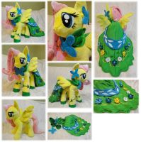Fluttershy Galloping Gala plushie by Rens-twin