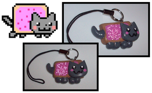 Nyan-Cat Charm by UniqueTreats