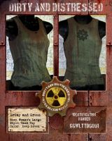 Grimy and Green Tank Top by DirtyandDistressed