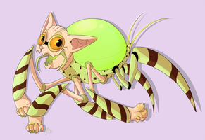 Kitty Candy Bug Monster by Rodent-blood