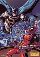 Batman vs Deadpool by LiamShalloo