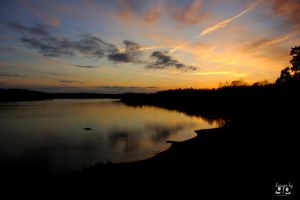Sunset over Sigtuna by geeson