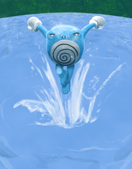 Shiny Poliwhirl by GeoCaecias