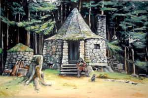 Hagrid's hut :) by WormholePaintings