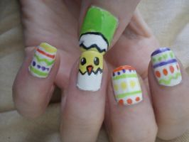 Easter Nail Art by EnelyaSaralonde