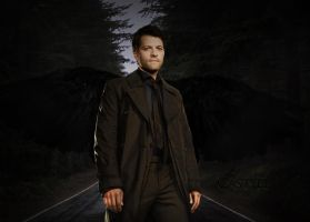 Creepy Forest Road - Castiel by Vampiric-Time-Lord