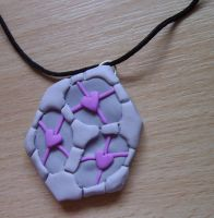 Weighted Companion Cube Commission by delicioustrifle