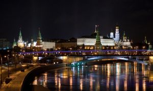 night Kremlin by xUSSR