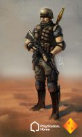 PS Home: Desert Marauder by geeshin