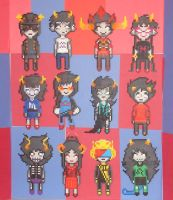 Pre-Scratch Troll Group Perler by Blackshadowbutterfly