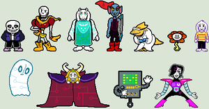 CPUtale Colored/Outlined Sprites by PumpkinLOL