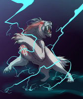 Fighting Lightning by Color-City