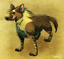 Brown hyena by kwinzilla