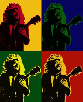 Angus Young Pop Art by Jorge-Yorch