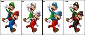 Mario and Luigi :With Power-Ups: by RatchetMario
