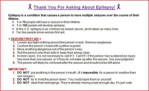 Epilepsy: Seizure First Aid Flier by Artuition