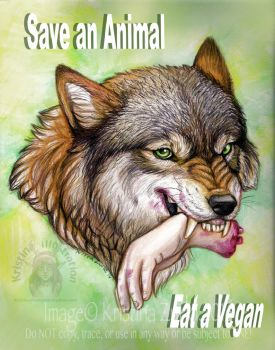 Save an Animal... Eat a Vegan by NatsumeWolf