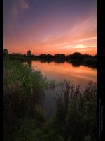AfterGlow Over Moulden Pond by GMCPhotographics