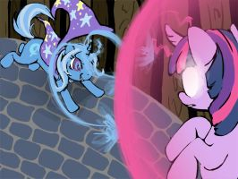 MLP: Trixie vs Twilight by musicwitme