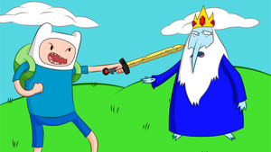 Adventure Time - Finn Confronts The Ice King by DigitalAlter