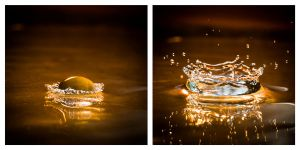 Two stages of a drop by fellipec