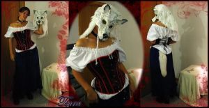 Tsura, White Wolf Mask by cricket00fur