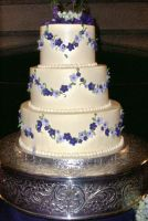 Simple Wedding Cake by Roguefairy