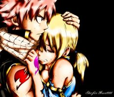 I'll Protect You_Natsu x Lucy_Fairy Tail_PAINTED by StarfireGrace1998