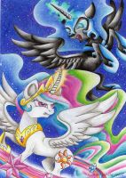 The fight of the two sisters by Lunar-White-Wolf