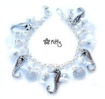 _White seahorse charm by kitica