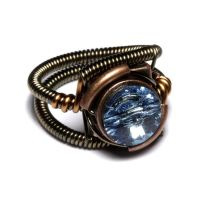 Steampunk Ring Aquamarine by CatherinetteRings