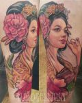 geisha tattoo 13 by mojoncio