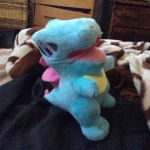 My Totodile plushie by Kiddo-the-dragon