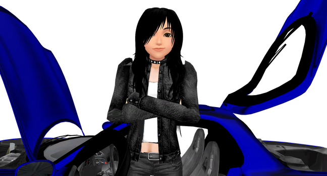 Sabrina with RX-7 by Gordo4ever