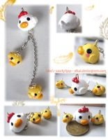 Hen Family charms by Eliwi