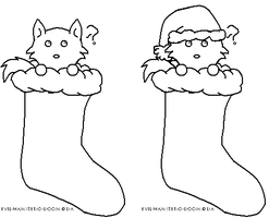 Wolf Stocking Stuffers lineart by Evil-Hamster-O-Doom