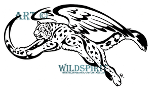 Winged Snow Leopard Tattoo by WildSpiritWolf