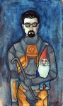 Gordon Freeman (+gnome) by keinneb