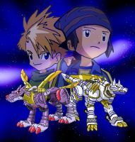 Digidestined: Matt and Koji by racookie3