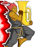 akuma and his tuba - msp by samuraiblack
